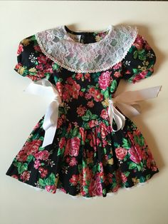 SOLD Vintage 80's Party Dress for Toddler Girl for sale here https://www.etsy.com/listing/460798730/vintage-black-party-dress-with-red-and?ref=shop_home_active_40 #vintage #babyvintageclothes #vintagebabyclothes #baby #babyclothesforsale #vintagebaby #vintagestyle #vintagebabystyle #babystyle #babyclothes #estyshop #estyvintage #etsyvintageshop