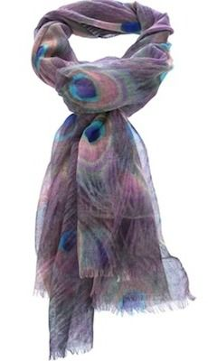 Peacock Cashmere Scarf..i would wear this everyday!!!LOL, so beautiful