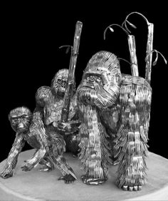 Artist Makes Sculptures from Forks, Knives, and Spoons... family