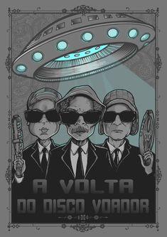 poster - A VOLTA DO DISCO VOADOR Ufo, Idee Baby Shower, Graffiti, Digital Foto, Nerd Geek, Game Art, Star Wars Art, Tatoos, Pop Culture