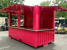 customized storage container outdoor bar