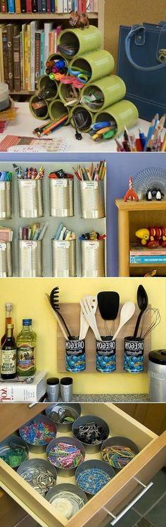 Tin Can Craft Organization