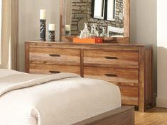 Coaster Peyton 6 Drawer Dresser with Wood Framed Mirror - Coaster Fine Furniture Brown Dresser, Six Drawer Dresser, Wood Dresser, Dresser With Mirror, Dresser As Nightstand, Painted Furniture, Home Furniture, Bedroom Furniture, Ideas