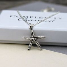 Personalised Starfish Charm Necklace - charm jewellery