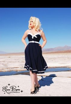 nautical swing dress