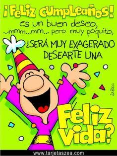 Feliz vida Happy Birthday Video, Happy Birthday Beautiful, Happy Birthday Quotes, Birthday Images, Happy Birthday Wishes, Friend Birthday, Birthday Greetings, Birthday Sayings, Spanish Birthday Wishes