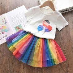 Rainbow skirt and Balloon Top set $29.99   #DiaperbagBabyAlex #babyclothesBabyAlex #ToddlerclothesBabyAlex #alexcollections #babyalex #afterpayit #lovethewayyoupay