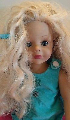 2007-MADAME-ALEXANDER-18-DOLL-Outfit-Bleach-blonde-Hair-Blue-Eyes-Ooak-Reborn
