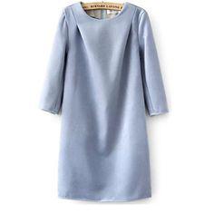 39,90EUR Etuikleid Kleid langarm hellblau