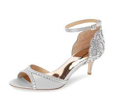1adccbad5e20 XYD Ballroom Dance Shoes Wedding Sandals Pumps with Rhinestones Ankle Strap  Peep Toe Heels for Women Size 4 Gray