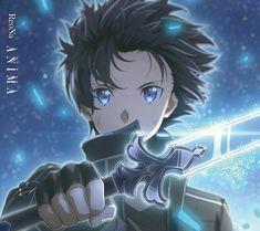 Sword Art Online Kirito, Kirito Sword, Art Anime Fille, Anime Art Girl, Anime Guys, Sword Art Online Poster, Sword Art Online Wallpaper, Arte Online, Online Art