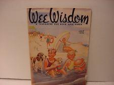 Vintage July 1949 WEE WISDOM Children's Magazine-Kids + Dogs At The Beach