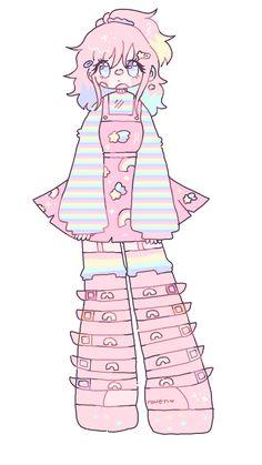 stars and rainbows by RavensRamen on DeviantArt Cute Art Styles, Cartoon Art Styles, Anime Girl Drawings, Kawaii Drawings, Art Inspiration Drawing, Character Design Inspiration, Art Drawings Sketches Simple, Cool Drawings, Pastel Goth Art