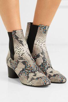 Isabel Marant | Danelya Ankle Boots aus Leder mit Pythoneffekt | NET-A-PORTER.COM