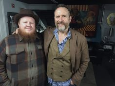 Cameron Ray and Colin Hay backstage at The Kessler