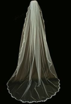 Bridal Veil - Wedding Cathedral Veil Ami - Traditional Veil - Single Tier  Veil - Ivory Veil - Long Veil -Voile Cathédrale - Simple Lace Veil 619b2b0d8b61