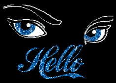 Hello Blue Eyes Glitter