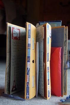 I learned how to make a Travel Journal out of manila envelopes and cardstock from an article in the now defunct Scrapbook Answers magazine. ...
