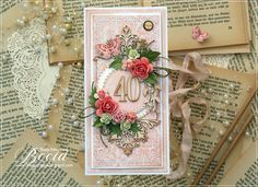 Blog sklepu CraftyMoly : Na czterdzieste urodziny Scrapbooking, Gift Wrapping, Cards, Gifts, Blog, Pray, Gift Wrapping Paper, Presents, Wrapping Gifts