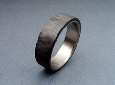 Carbon Fiber and Titanium ring -- Random Pattern
