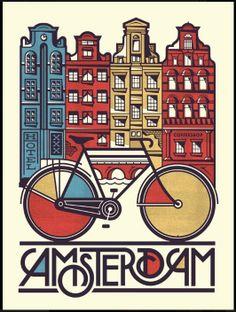 fun poster... biking! canals!
