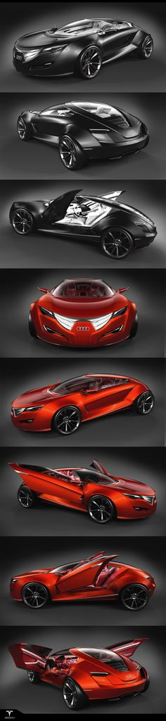 """Audi - """"Regard"""" from Inferno by Piotr Czyzewski: Concept car. #black #red"""