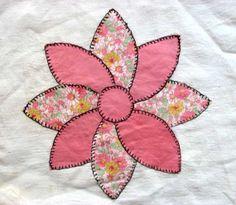 Set of 4 Vintage 1940's Pinwheel Flower by kelleystreetvintage, $19.95