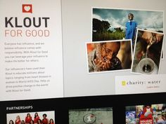 Check out our new portal, Klout for Good, which focuses on Klout's non-profit partnership program. forgood.klout.com