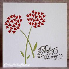 tarjeta de San Valentín original con flores de corazones