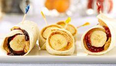 PB Burrito (Use 1 low carb flour tortilla, 1 TBSP Peanut Butter, 2 TBSP sugar free jam, 1 medium banana for WWP+5)