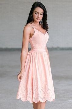 1caa623067 Peach Pink A-Line Summer Midi Dress