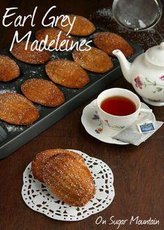 Earl Grey Madeleines (recipe) - On Sugar Mountain