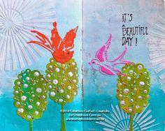 """Scrapbook Centrale: journal d'artiste """"It's a Beautiful Day!"""" Art Journaling"""
