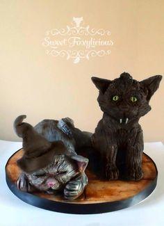 Halloween Kittens - Cake by Sweet Foxylicious
