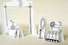 Printable Paper Circus with Animals   AllFreeKidsCrafts.com