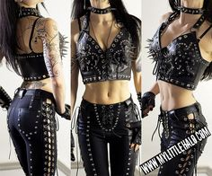 Super Spiked Leather Bustier - My Little Halo http://mylittlehalo.com/metal-clothing-collection