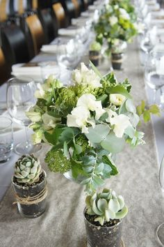 Neutral table setting | Sugar Bee Flowers | Succulents | Zonzo | Yarra Valley | gum | white and green wedding | wedding flowers |