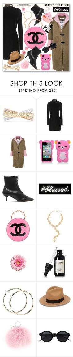 """""""Statement Coat: 10/02/18"""" by pinky-chocolatte ❤ liked on Polyvore featuring Effy Jewelry, Yves Saint Laurent, Saks Potts, Tabitha Simmons, Oliver Gal Artist Co., Chanel, Melrose & Market, Vintner's Daughter, Current Mood and Dsquared2"""