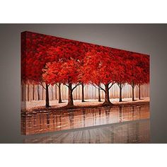 Details About Home Decorations Canvas Print Art Decor Autumn Forest Office Living Bed Room