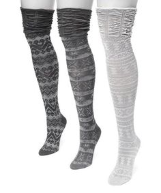 10aba0ba7f4 This Classic Three-Pair Over-the-Knee Sock Set - Women is perfect
