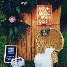 Love the chair and neon signs! So fun
