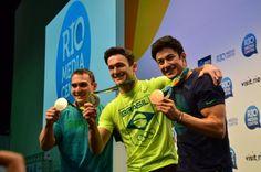 Arthur Zanetti, Diego Hypólito e Arthur Nory / Fotos Robson Barreto