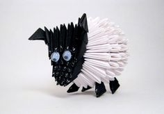 Little Sheep 3D Origami Sculpture by AMSkrafts on Etsy