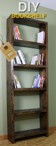 Check out how to make an easy DIY rustic bookshelf @istandarddesign
