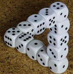 illusion photos | Realistic Dice Illusion - Optical Illusions Pictures