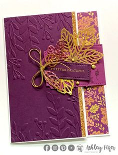 Glitter Pumpkins, Leaf Cards, Wink Of Stella, Fall Cards, Christmas Cards, Fancy Fold Cards, Stamping Up Cards, Thanksgiving Cards, New Leaf