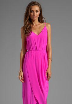 AMANDA UPRICHARD Madison Maxi Dress in Hot Pink - New