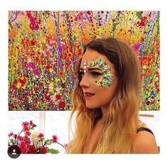 Awesome festival glitter makeup