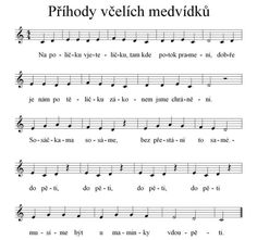 Prihody vcelich medvidku Piano Score, Music Score, Piano For Sale, Electric Piano, Celtic Music, Music Do, Kids Songs, Music Lessons, Music Notes