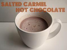 Salted carmel hot chocolate - mmmmmmmm caramel hot, salt caramel, chocolates, starbuck, drink, hot chocolate recipes, gluten free, breakfast bites, salt carmel